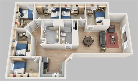 6 bedroom apartment floor plans madbury commons