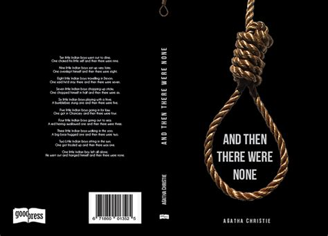and then there were none book report quot and then there were none quot book jacket on behance