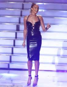 in alesha overall britain s got talent s amanda holden in gown while alesha