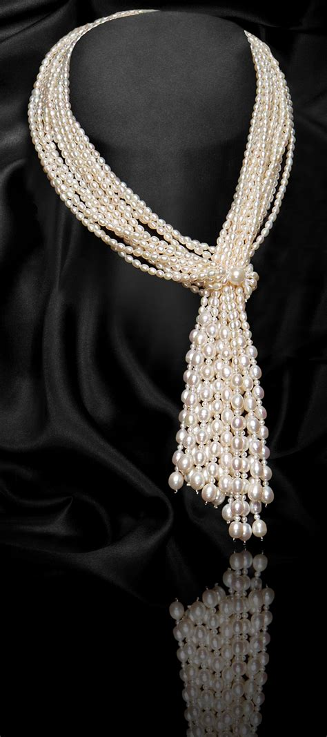 Pearl Scarf white multi strand scarf shape freshwater pearl necklace 1st year anniversary offer 50