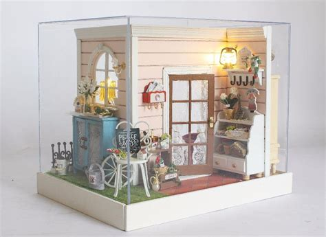 doll house models hot sale funny doll house model building kits handmade 3d miniature for kids wooden