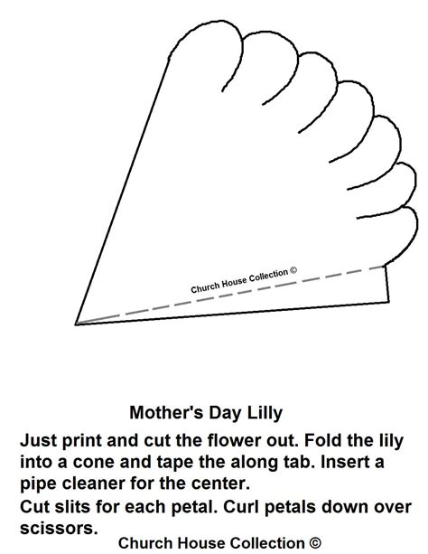 printable paper lily template church house collection blog april 2012