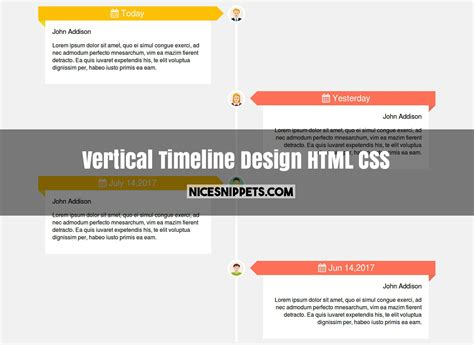 html layout vertical vertical timeline design using html and css