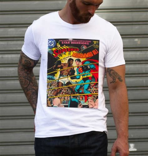 Moh Ali Vs Superman T Shirt t shirt superman vs mohamed ali grafitee