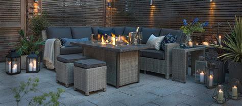 palma fire pit table luxury wicker garden furniture