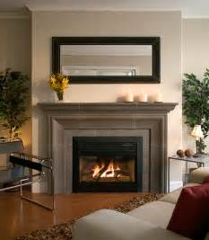 Decor For Fireplace by Contemporary Gas Fireplace Designs With Fascinating