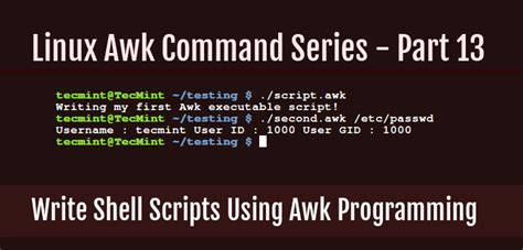 the awk programming language learn how to use awk variables numeric expressions and