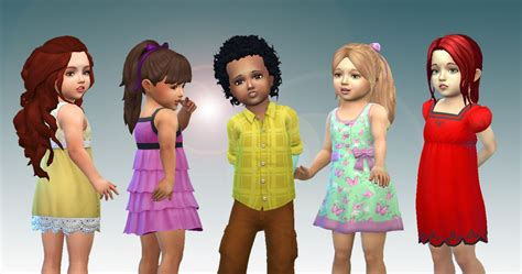 download hair and clothes for sims 4 my stuff toddlers hair pack 5