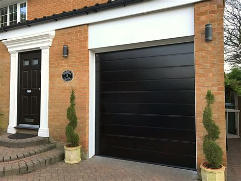 hormann black sectional garage door pennine garage doors