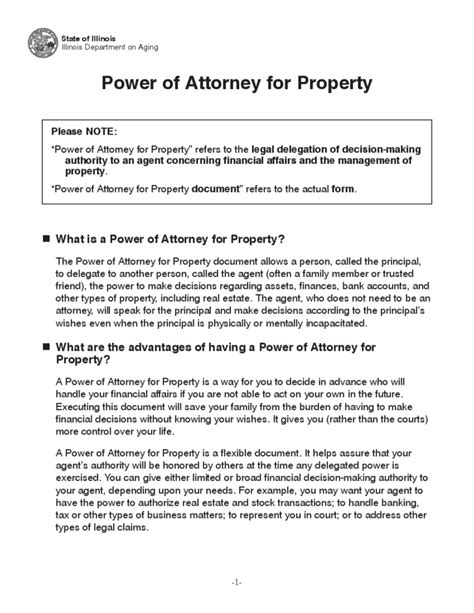 Creditors Rights Attorney Resume by Power Of Attorney For Property Illinois Free