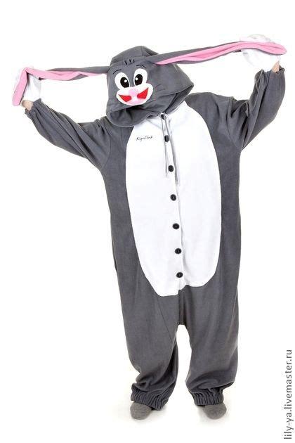 Blue Summer Bunny Longpants Pajamas kigurumi bugs bunny кигуруми бакз банни kigurumi fleece