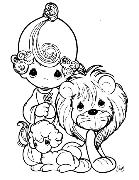 Precious Moments Animal Coloring Pages Precious Moments 5 Coloringcolor Com by Precious Moments Animal Coloring Pages