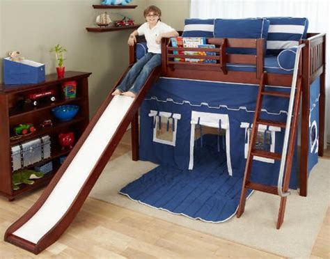 bunk bed with slide and tent fun bunk bed with a tent and a slide kids rooms pinterest