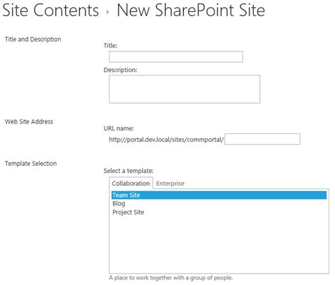 sharepoint site template id the sharepoint repair joint 2013
