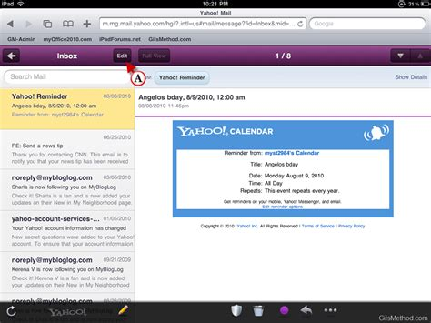 yahoo email on ipad forget gmail envy yahoo email rocks on the ipad