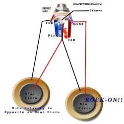 roland dual piezo wiring