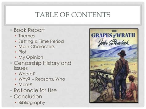 grapes of wrath theme exles the grapes of wrath sle presentation