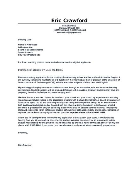 Cover Letter For Teaching Resume Teaching Cover Letter Exles For Successful Application
