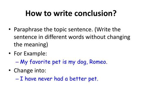 how to write a conclusion for a paper ppt essay writing powerpoint presentation id 556739