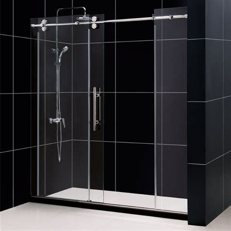 how to install a sliding shower door frameless sliding glass shower doors install home ideas