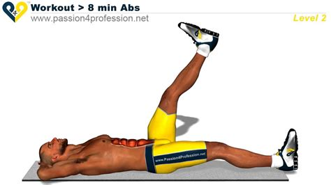 8 min abs workout level 2 six pack