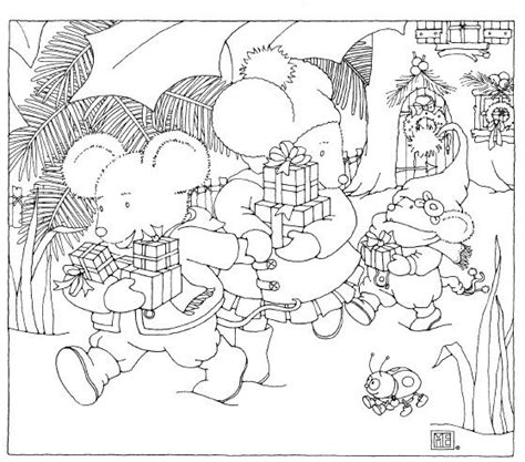 christmas mice free coloring page from mary engelbreit