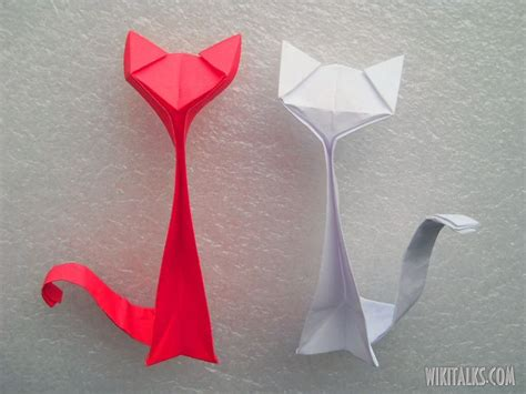 Origami Cat Tutorial - best 25 origami cat ideas on simple origami