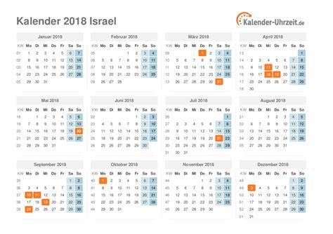 Calendar 2018 Israel Feiertage 2018 Israel Kalender 220 Bersicht