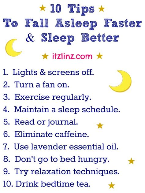how to get to a better 10 tips to fall asleep faster sleep better itz linz