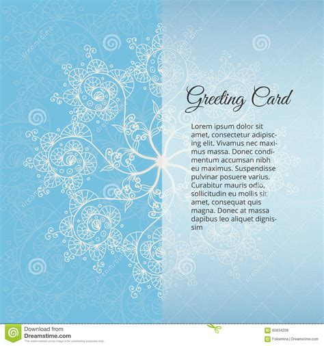 snowflakes template invitation blue background christmas and new year greeting card