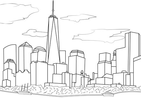 New York Coloring Pages For Adults Coloring Page New York Coloring Pages