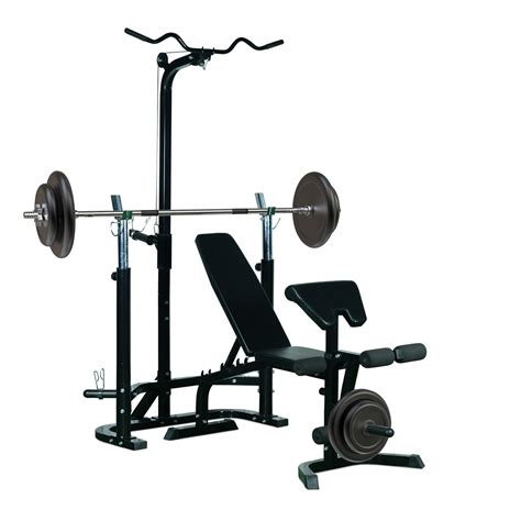 weight bench system soozier weight bench home gym system lifting barbell stand