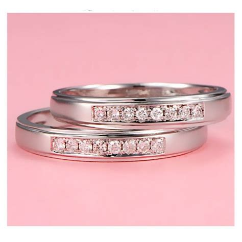 cheap couples matching wedding ring bands on gold