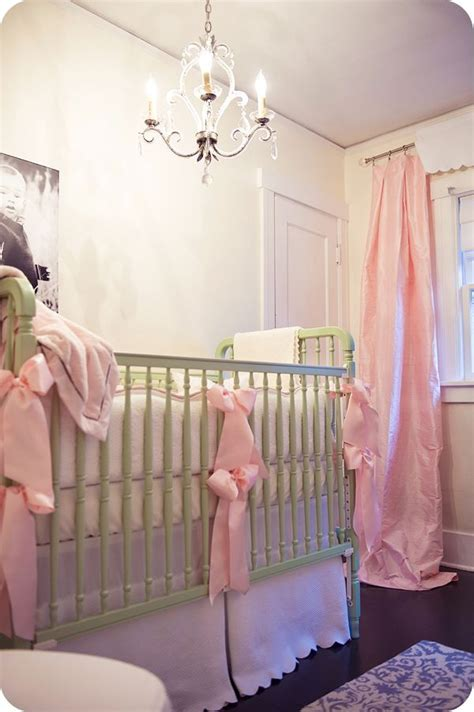 nursery curtains next i the draping curtains and chandelier crib nursery ideas for the next cutie