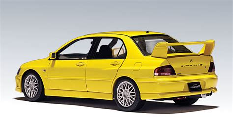 mitsubishi yellow autoart mitsubishi lancer evo vii yellow 20231 in 1