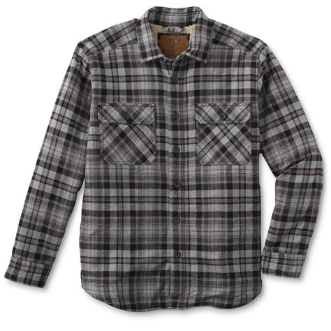Plaid Shirt Jacket outdoor s flannel shirt jacket plaid sears