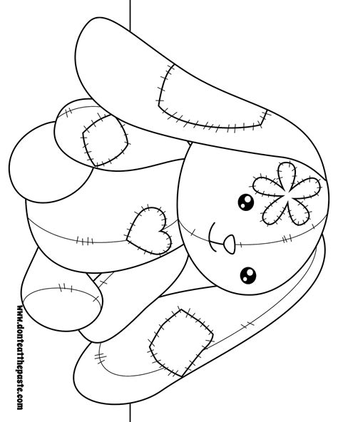 stuffed bunny coloring page don t eat the paste bunny coloring page