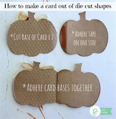 die cut shapes for card pumpkin shaped cards pebbles inc