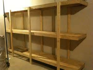 build easy free standing shelving unit for basement or garage