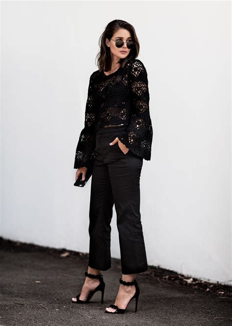 Trend Black Lace Goes Chic by How To Wear Lace Without Being Girly Harley