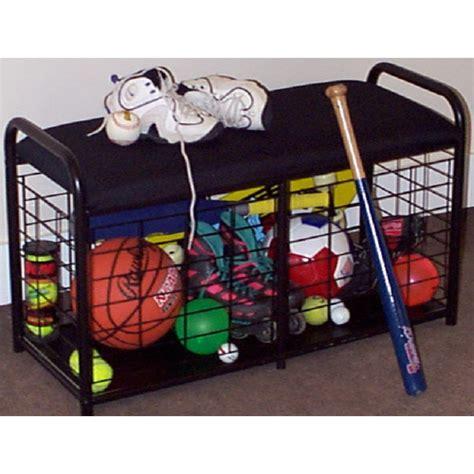 sports storage bench sports bench organizer in sports equipment organizers