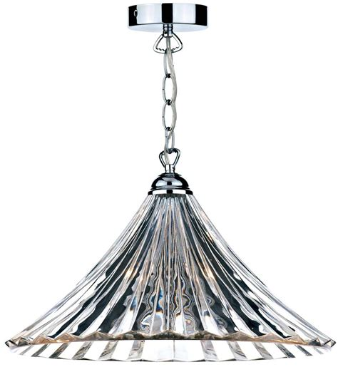 fluted glass pendant light dar ardeche fluted glass 1 light ceiling pendant chrome ard868
