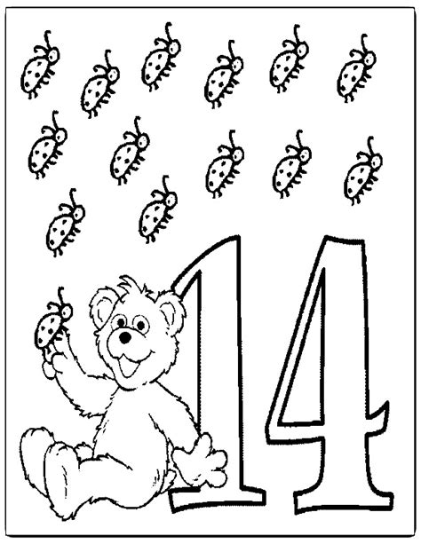 number 14 coloring page az coloring pages