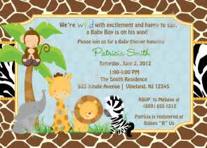 safari themed baby shower invitation templates safari jungle animals baby shower invitationzoo by jcbabycakes