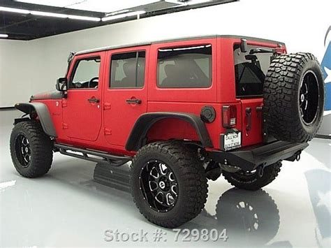 matte red jeep 2015 matte red and black customized jeep wrangler http