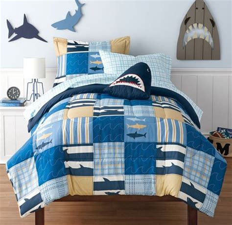 mainstays kids shark bed   bag bedding set walmart canada