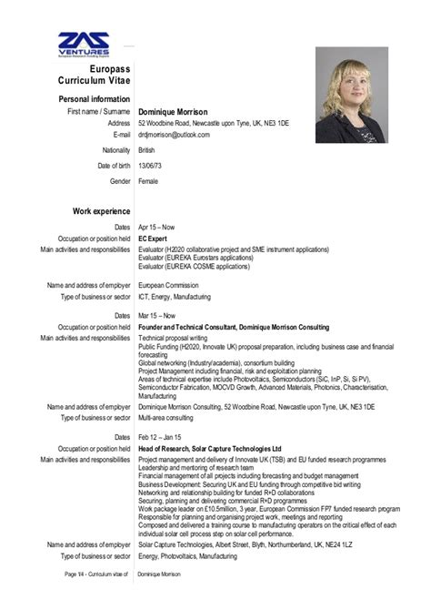 project management curriculum vitae sles cv senior consultant dominique morrison