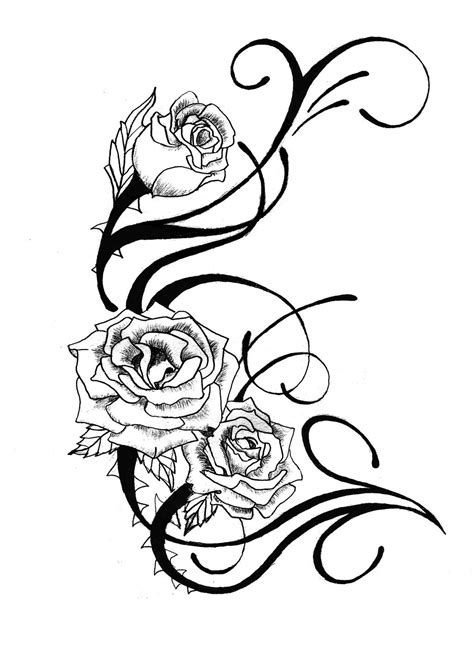 rose tattoo stencils free tattoos clipart best