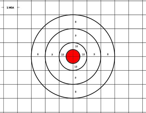 free printable moa targets april rifle shootout page 6