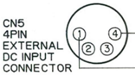 pin outs for connectors on the panasonic f15